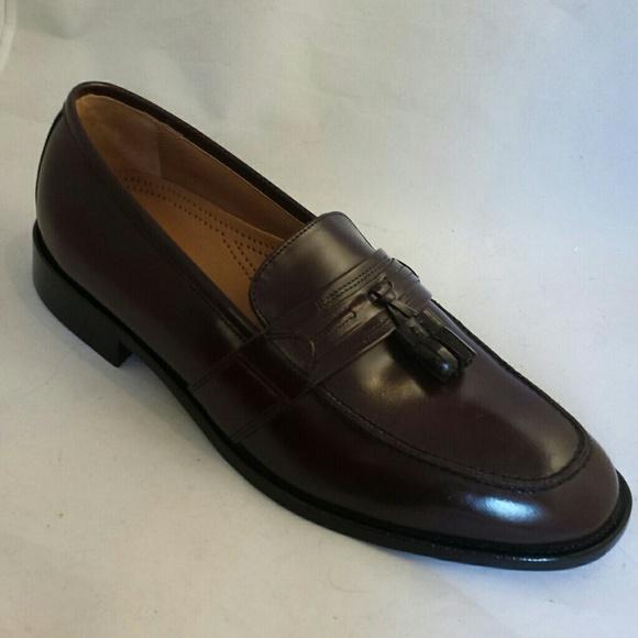 Bostonian Classic Men's First Flex Loafer-Kiltie Tassel Wing Tip Shoes Size 9 ½